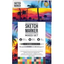 Набор маркеров Sketchmarker Brush Mixed set 36