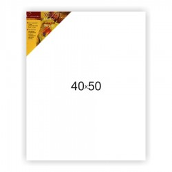 Холст на подрамнике Сонет 100% хлопок, крупное зерно, 40x50