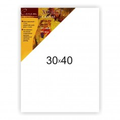 Холст на подрамнике Сонет 45% хлопок и 55% лен, крупное зерно, 24x30