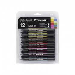 Набор №2 маркеров Promarker 12 шт. + блендер
