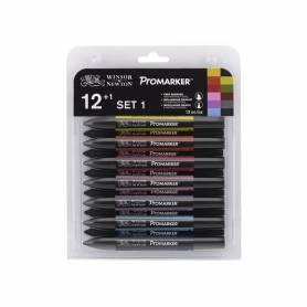 Набор №1 маркеров Promarker 12 шт. + блендер
