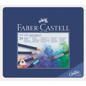 Набор акварельных карандашей Faber-Castell ART GRIP AQUARELLE, 24 шт.