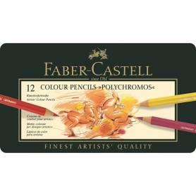 Набор цветных карандашей Faber-Castell Polychromos в металлической коробке, 12 цветов