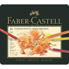 Набор цветных карандашей Faber-Castell Polychromos в металлической коробке, 24 цвета