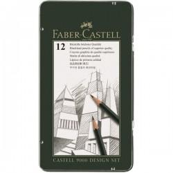 Набор чернографитовых карандашей Castell 9000 Design Set, 12 шт., 5B-5H