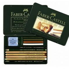 Художественный набор Faber-Castell Pitt Monochrome, 12 предметов
