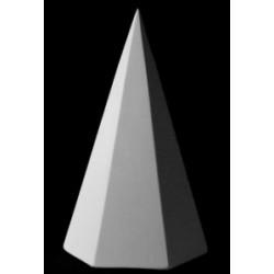 Гипсовая пирамида шестигранная