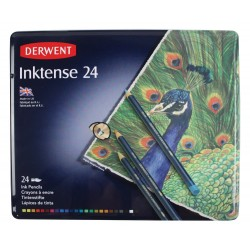 Чернильные карандаши Derwent Inktense, 24 шт., металл