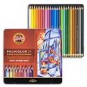Набор цветных карандашей Koh-i-noor Polycolor, 24 цвета, металлическая коробка