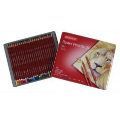Пастельные карандаши Derwent Pastel, 24 шт., металл