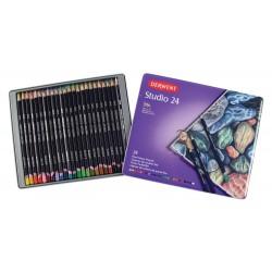 Цветные карандаши Derwent Studio, 24 шт., металл