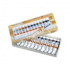 Масляные краски Ладога в наборе, 12х18 мл.