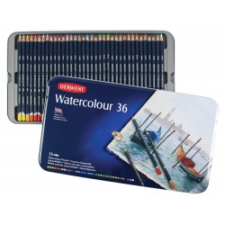 Акварельные карандаши Derwent Watercolour, 36 шт., металл