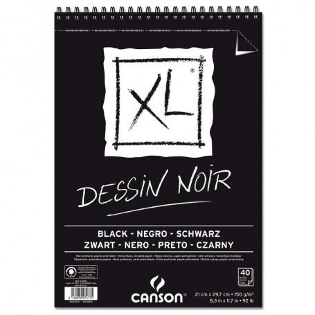 Альбом для графики с черной бумагой Canson Xl Black, А4