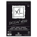 Альбом для графики с черной бумагой Canson Xl Black, А4, 40 л.