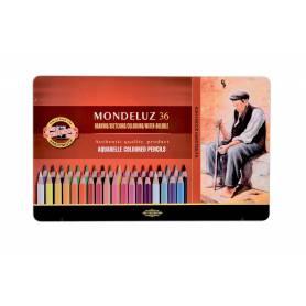 Набор акварельных карандашей Mondeluz, 36 цветов, металл