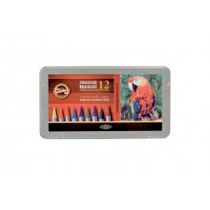 Набор акварельных карандашей Progresso Aquarell, 12 цветов, металл