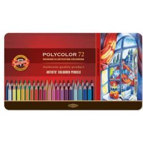 Цветные карандаши Koh-i-noor Polycolor, 72 цвета, металл