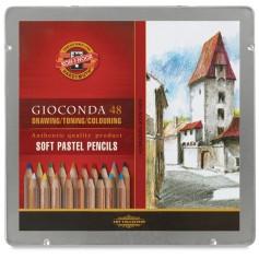 Набор пастельных карандашей Koh-i-noor Gioconda, 48 цветов, металлическая упаковка