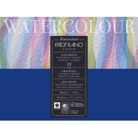 Альбом для акварели Fabriano Watercolour Studio Фин 24x32 см., 12 л., 300 г/м2, склейка по длинной стороне