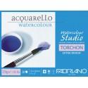 Блок для акварели Fabriano Watercolour Studio Торшон 23х30,5 см., 20 л., 270 г/м2, склейка по 4 сторонам