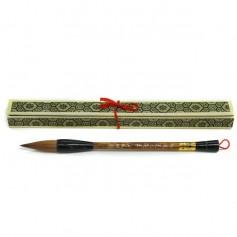 Кисть для каллиграфии с ворсом куницы, бумбуковая ручка, 24,5 см.