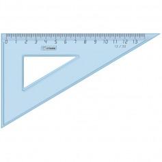 Треугольник Стамм 30° 13 см, голубойпрозрачный пластик