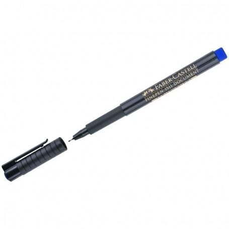 """Ручка капиллярная Faber-Castell """"Finepen 1511"""" синяя, 0,4 мм."""
