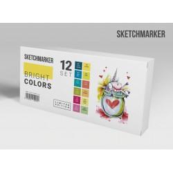 Набор маркеров SKETCHMARKER Bright colors 12 set - Яркие тона
