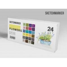 Набор маркеров SKETCHMARKER Flowers 24 set - Цветы
