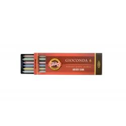 Набор стержней разноцветных металлик Koh-i-noor Gioconda для цанговых карандашей, 5.6 мм., 6 шт.