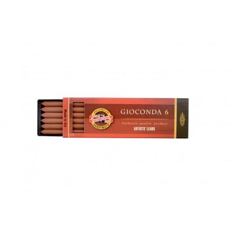 Набор стержней Koh-i-noor Gioconda, сепия красно-коричневая, 5.6 мм., 6 шт.