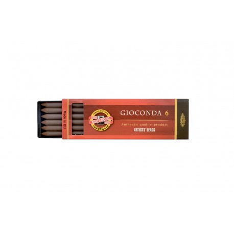 Набор стержней Koh-i-noor Gioconda, сепия светло-коричневая, 5.6 мм., 6 шт.