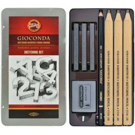 Художественный набор Koh-i-Noor Gioconda Sketching Set, 8 предметов, металл
