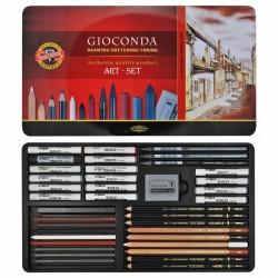 Художественный набор Koh-i-Noor Gioconda Art Set для графики, 39 предметов, металл
