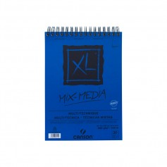Альбом для смешанных техник Canson XL Mix Media, 21х29.7 см.,  30 л., 300 г/м2, среднее зерно, на спирали