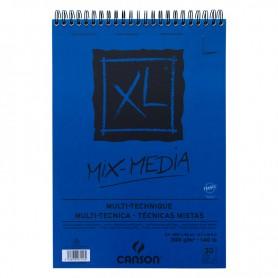 Альбом для смешанных техник Canson XL Mix Media, 29.7х42 см.,  30 л., 300 г/м2, среднее зерно, на спирали