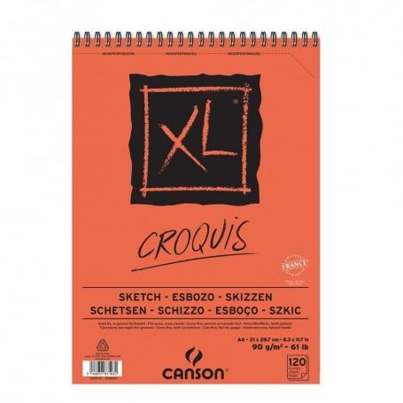 Альбом для графики Canson Xl Croquis, 21*29.7см., 120 л., 90 г/м2., бумага цвета слоновая кость, спираль по короткой стороне