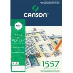 Альбом для графики Canson 1557, 29.7х42 см., 180 г/м2, 30 л., склейка по короткой стороне