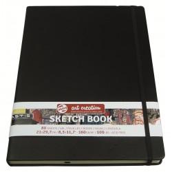 Блокнот для зарисовок Royal Talens Art Creation, 21х29.7 см., 160 г/м2, 80 л., твердая черная обложка