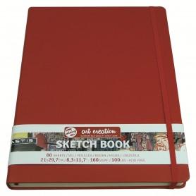 Блокнот для зарисовок Royal Talens Art Creation, 21х29.7 см., 160 г/м2, 80 л., твердая красная обложка