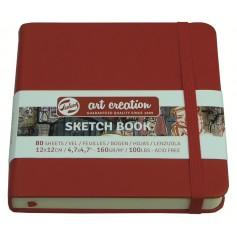 Скетчбук Royal Talens Art Creation, 12х12 см., 160 г/м2, 80 л., красный