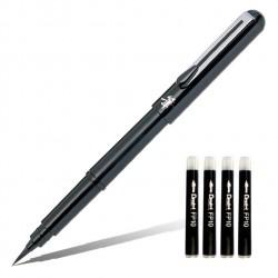 Ручка-кисть Pentel Pocket Brush Pen, 4 картриджа в комплекте