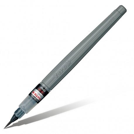 Кисть с черными чернилами Pentel Brush Pen XFP5F, тонкая