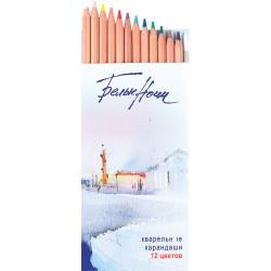 Набор акварельных карандашей Белые ночи, 12 цветов, картон