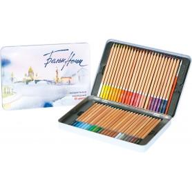 Набор акварельных карандашей Белые ночи, 48 цветов, металл