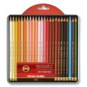 """Набор цветных карандашей Koh-i-noor Polycolor """"PORTRAIT"""", 24 цвета, металлическая коробка"""