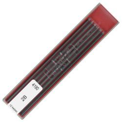 Наборы грифелей для цангового карандаша Koh-i-noor D: 2 мм., по 12 шт., 8B - 10H