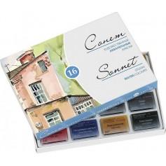 Акварельные краски Сонет, 16 кюветов, картонная упаковка