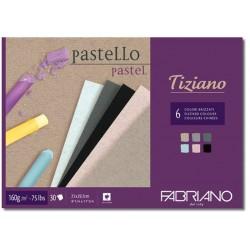 Альбом для пастели Fabriano Tiziano 160г/м.кв 21x29,7 см., 30 л, , 160 г/м2, темные цвета